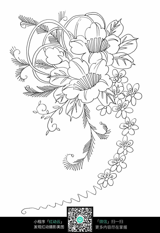 免费素材 图片素材 背景花边 花纹花边 花卉花朵刺绣图案素材