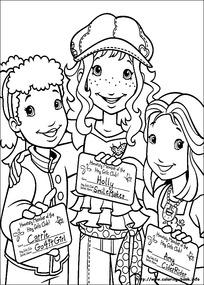 三个女孩的心愿卡片
