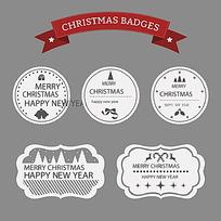 圣诞图形标签