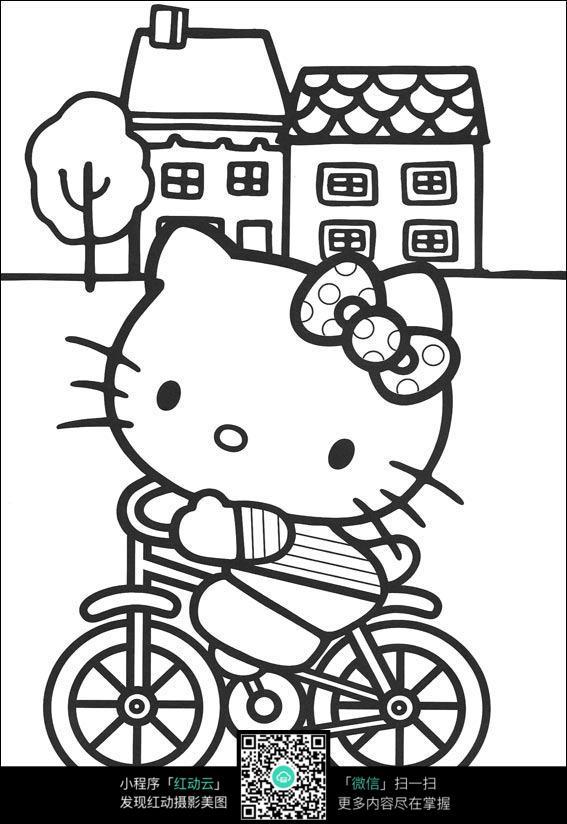 kitty线稿图  hello kitty图片