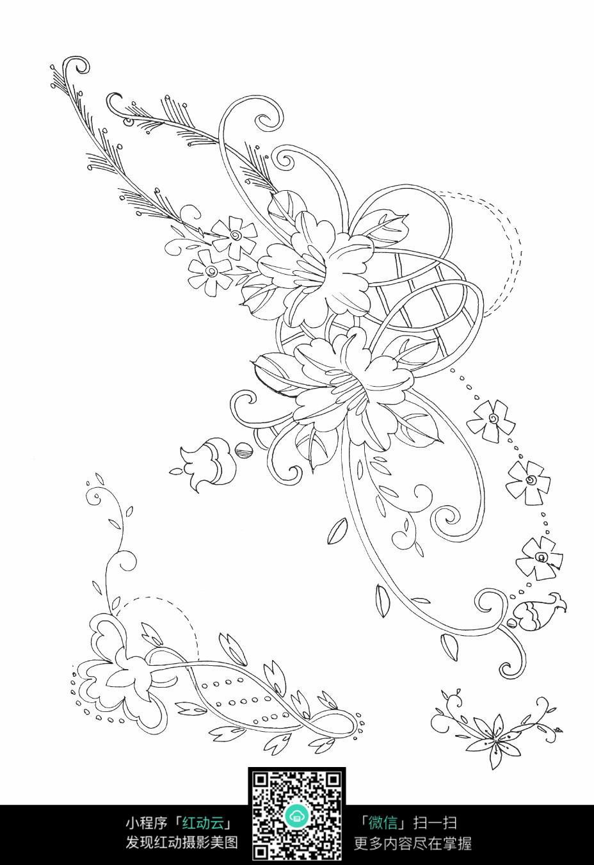 好看藤蔓花边简笔画