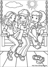 坐在一起聊天的卡通小孩图片