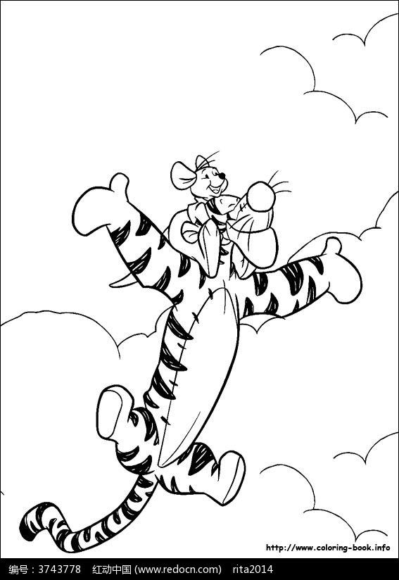 场景图 绘画线稿 漫画线稿 维尼熊手绘图 动画原稿 卡通填色稿 机器人