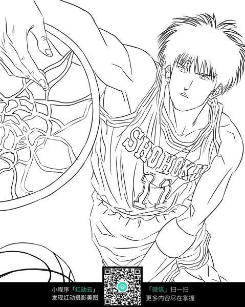 免费素材 图片素材 漫画插画 人物卡通 灌篮高手动漫男孩