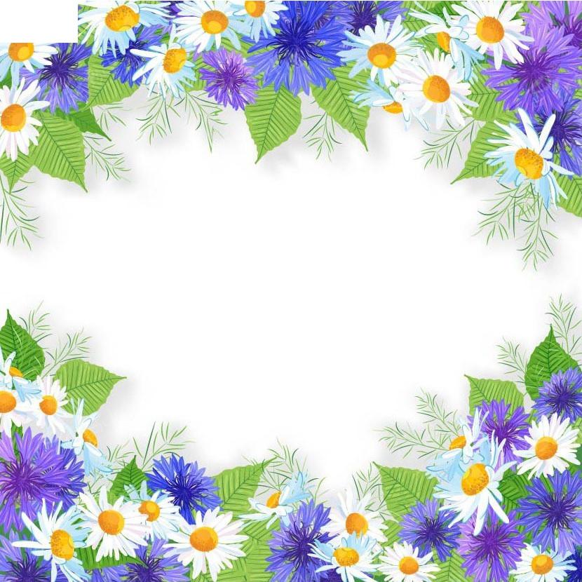 花纹边框手绘背景画