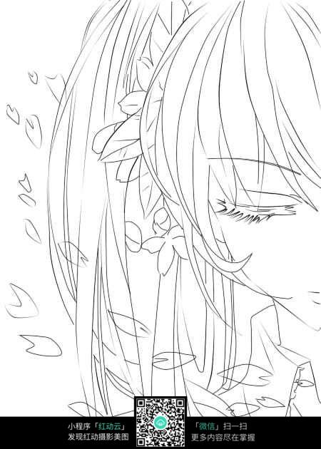 哭泣的动漫女孩_人物卡通图片