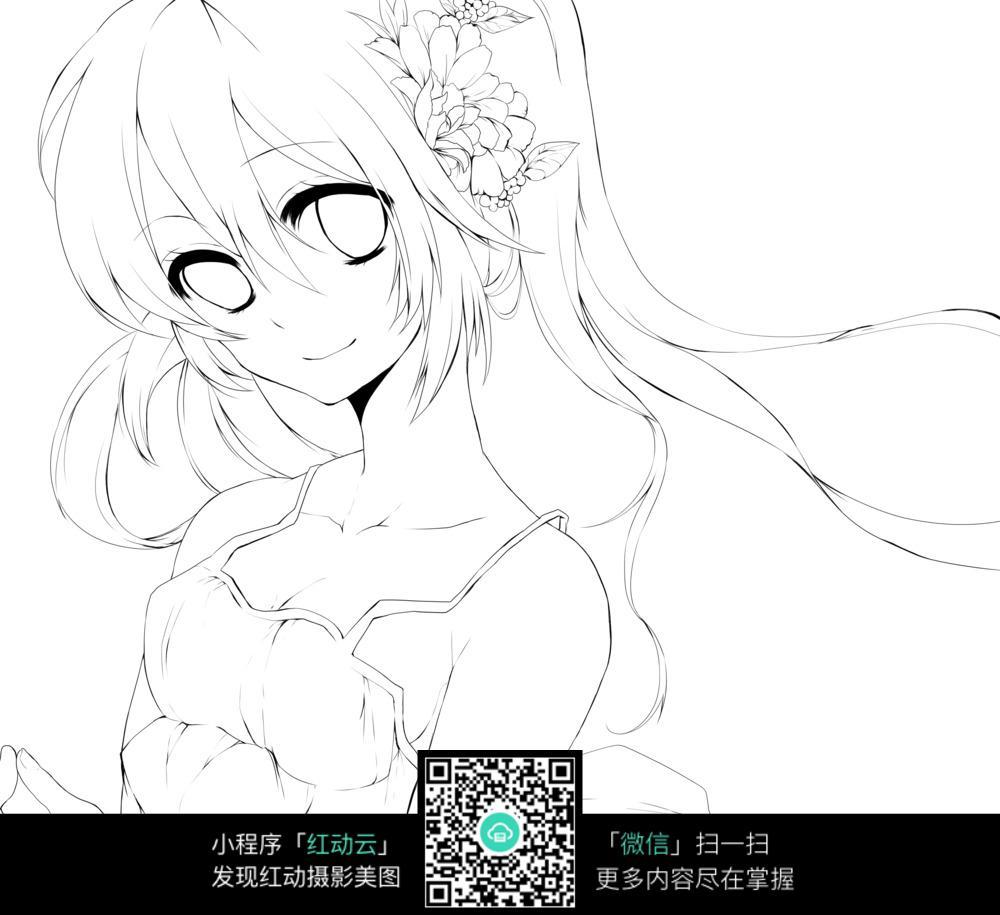 梦幻般的女孩卡通萝莉_人物卡通图片