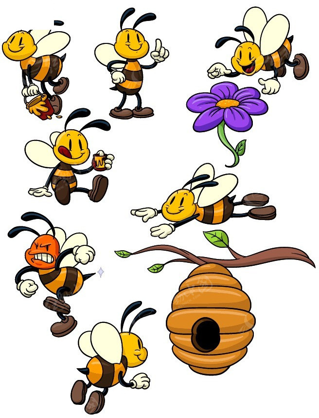 卡通蜜蜂的图片 _排行榜大全