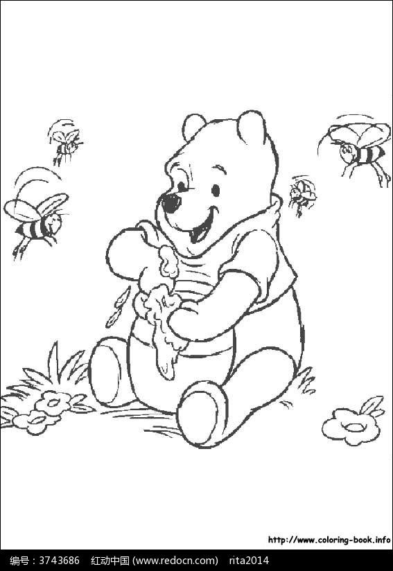 维尼熊吃蜂蜜图片_人物卡通图片