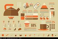 饮食小吃手绘图形图标