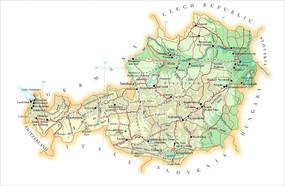 奥地利地图JPG