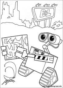 机器人瓦力黑白简笔画