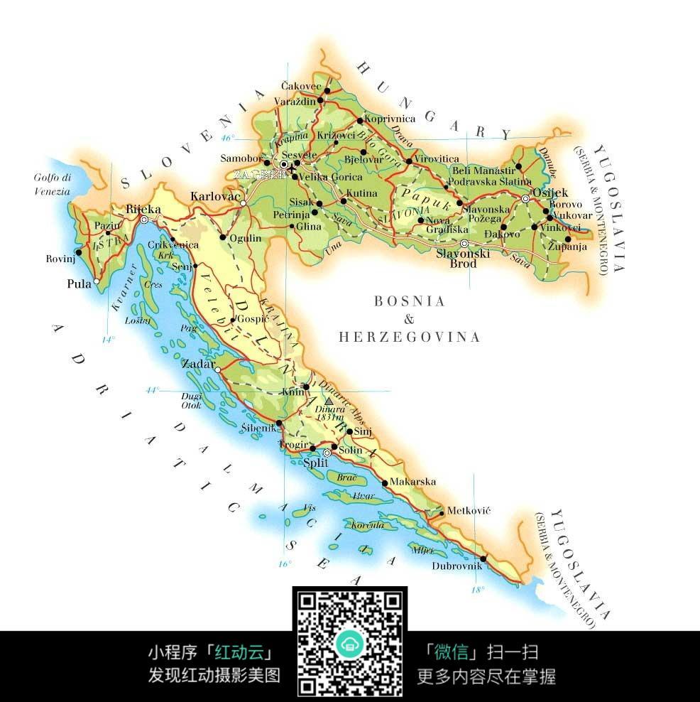 乌克兰克罗地亚地图_克罗地亚地图高清中文版... _飞翔手机下载站