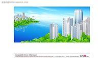 临湖小区手绘背景画
