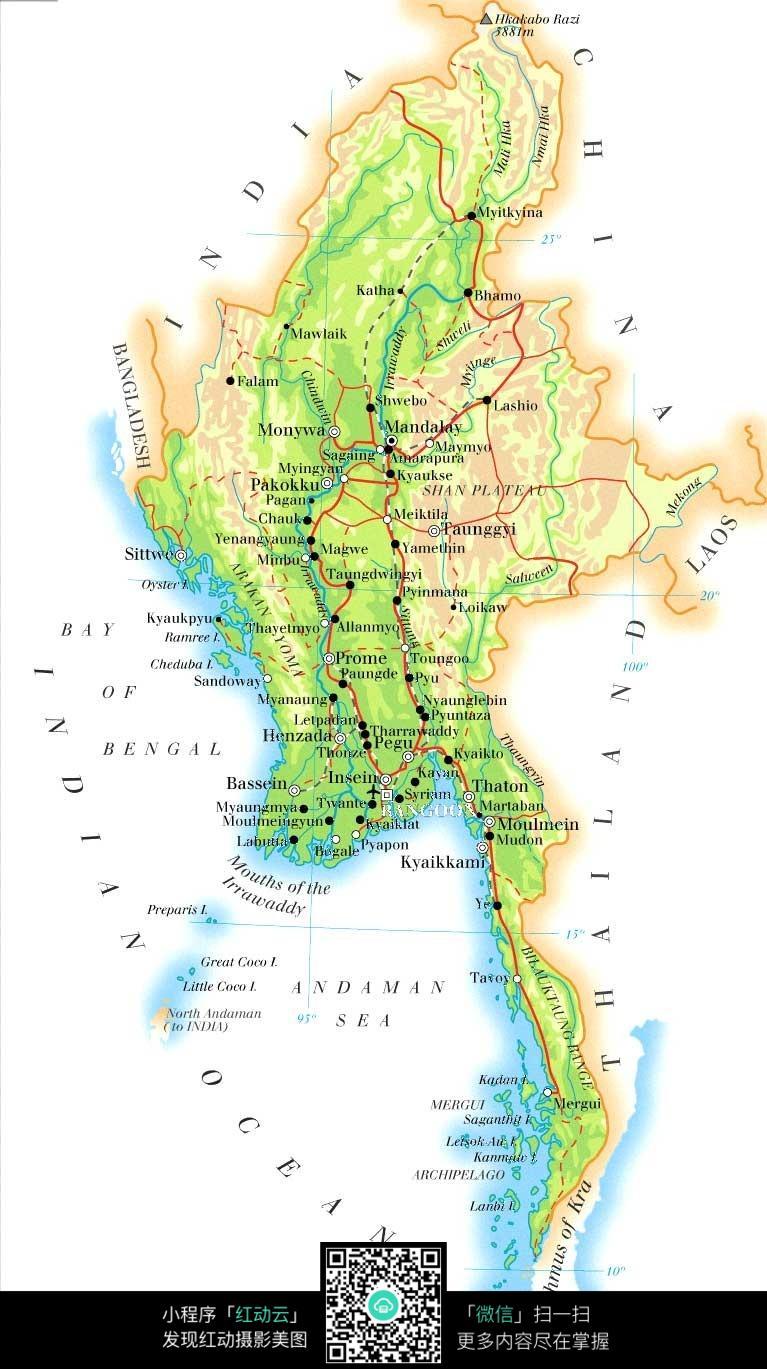 缅甸地图jpg