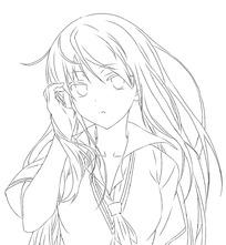 染黄头发的卡通女孩图片_人物卡通图片