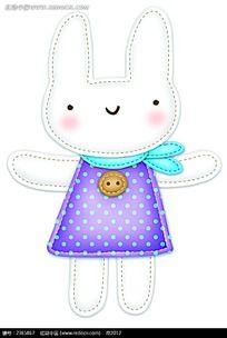 卡通小兔子插图