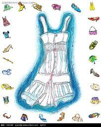 女性肩带连衣裙