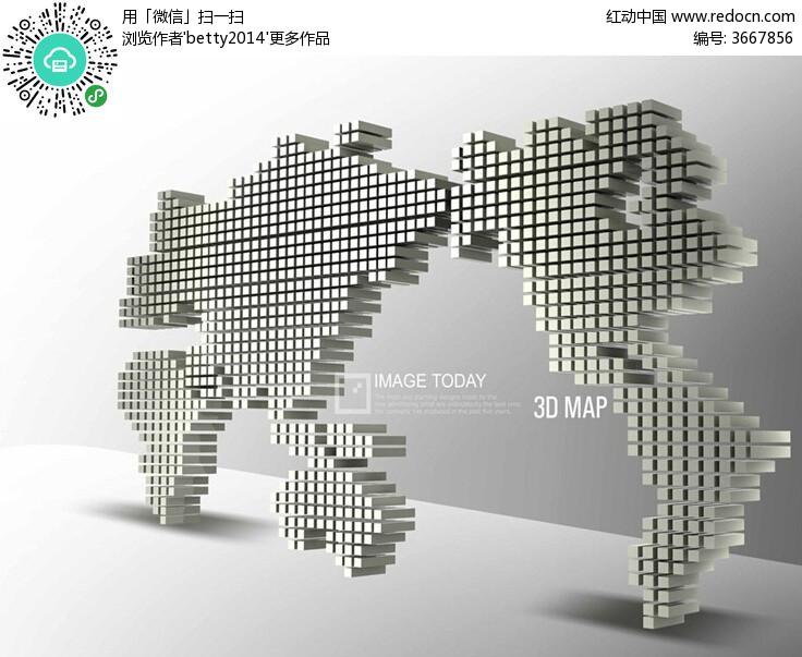 3D地图ppt模版素材免费下载 红动网