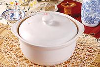 白色陶瓷锅