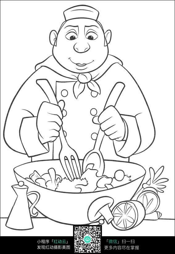 免费素材 图片素材 漫画插画 人物卡通 炒菜的厨师  请您分享: 红动网