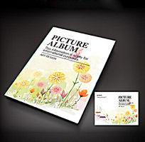 创意花组合画册封面设计