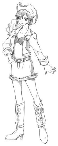 的女孩卡通手绘线稿