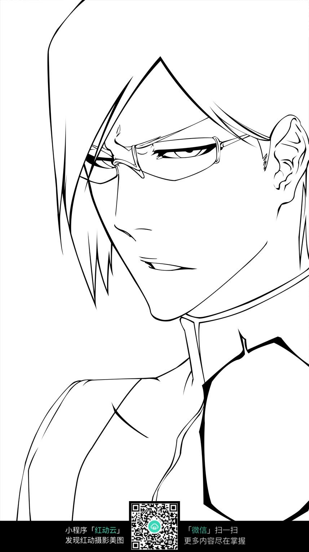 戴眼镜的男生图片