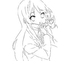 戴眼镜的女孩卡通手绘线稿