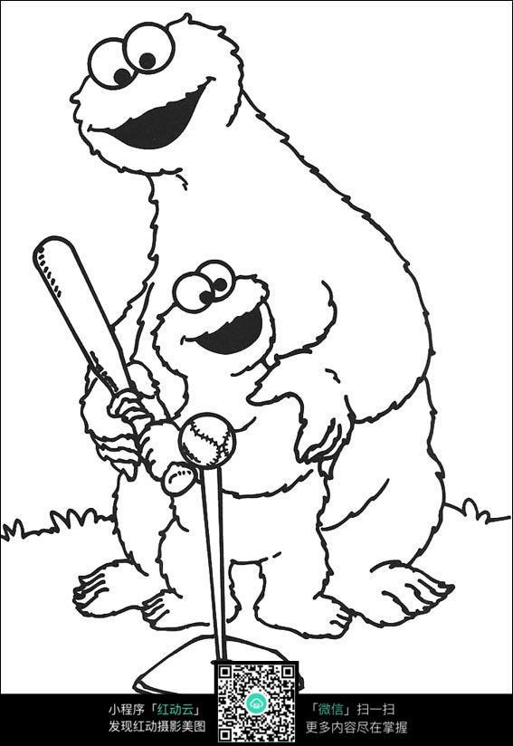 人物绘画  钢笔画  漫画手绘 素材 速写 涂鸦  写生 动漫人物打棒球