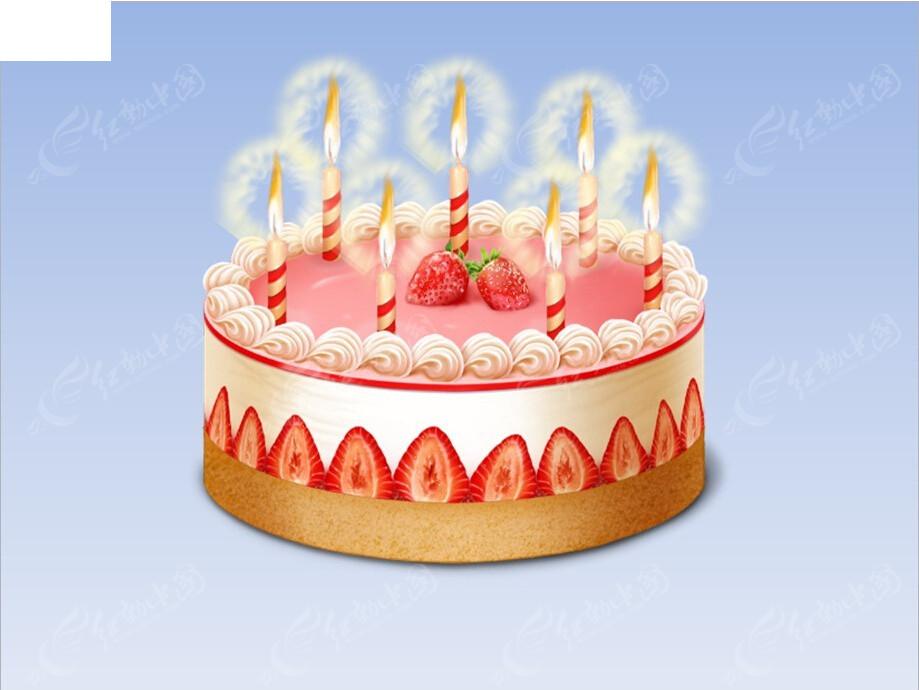 动态生日蛋糕蜡烛ppt模板免费下载_节日民俗素材图片