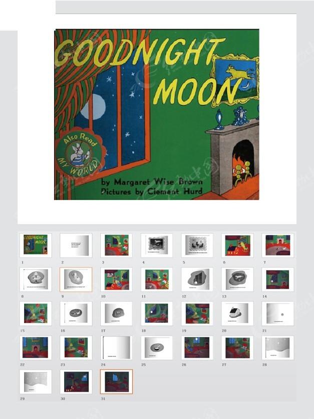 绘本故事ppt-晚安月亮