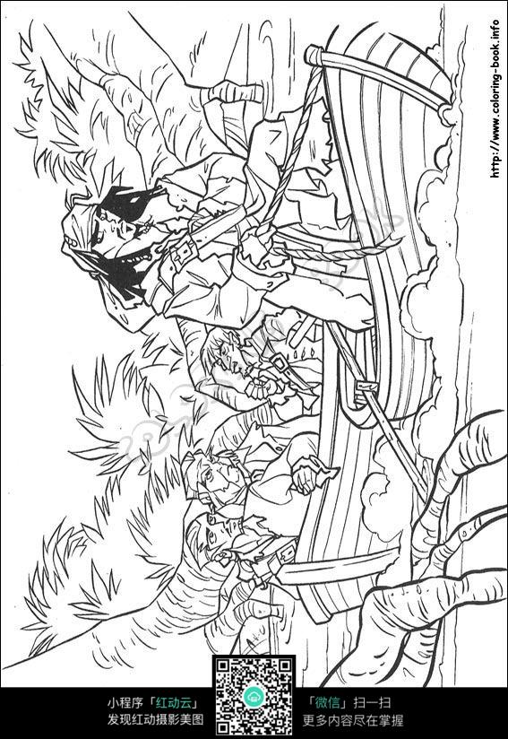 免费素材 图片素材 漫画插画 人物卡通 加勒比海盗人物设计