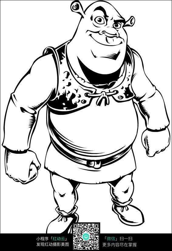 卡通电影动漫人物线描