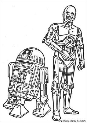 卡通机器人人物线描