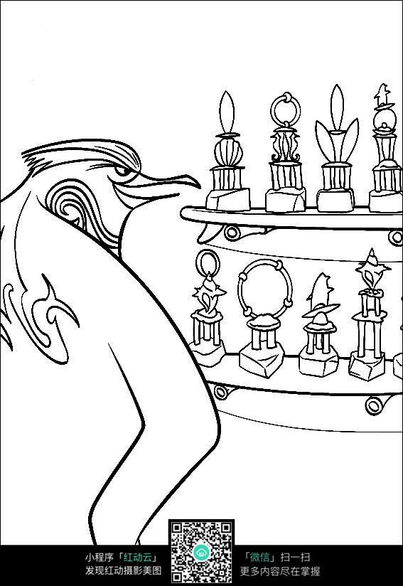 卡通企鹅发现奖品