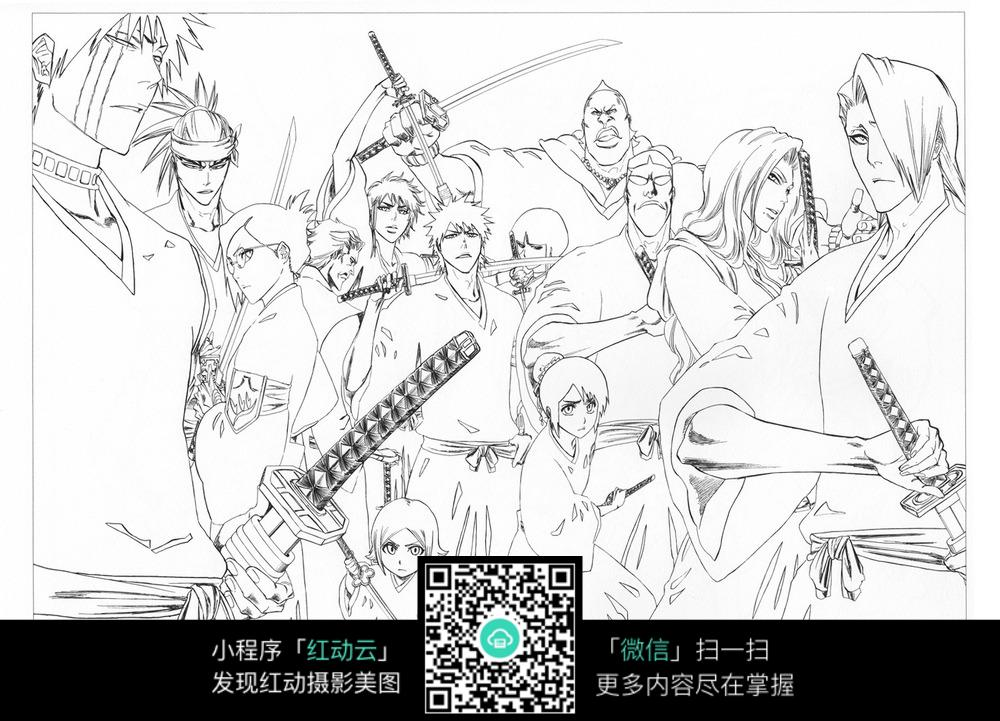 卡通 人物 手绘线稿 卡通人物 漫画  卡通素材  插画 人物素材 漫画