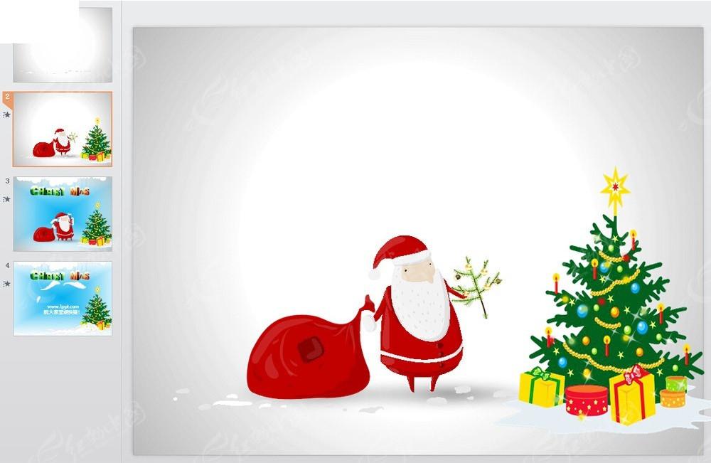 卡通圣诞ppt素材