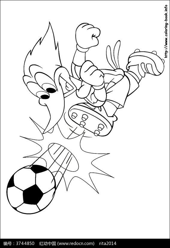 小孩踢足球的简笔画步骤