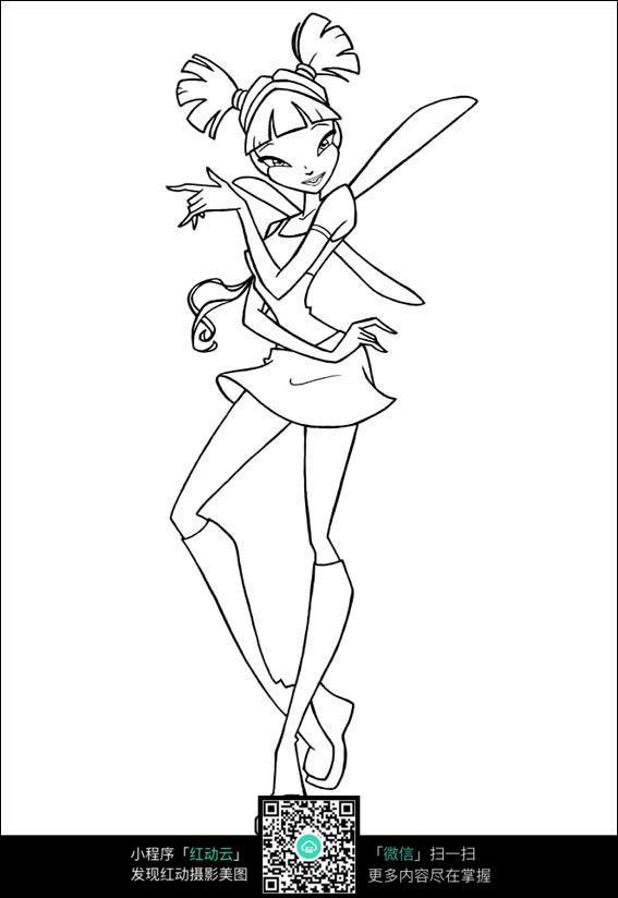 卡通舞蹈少女