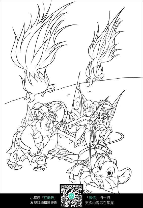 卡通小老鼠拉车