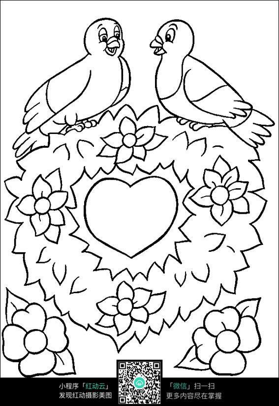 卡通小鸟情侣