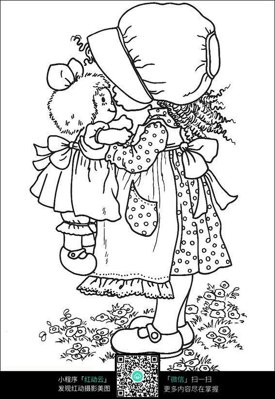 名牌小女孩亲吻卡通口红_图片图片卡通人物女生玩偶图片