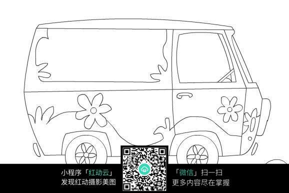 卡通小汽车线稿图片免费下载 编号3744658 红动网图片