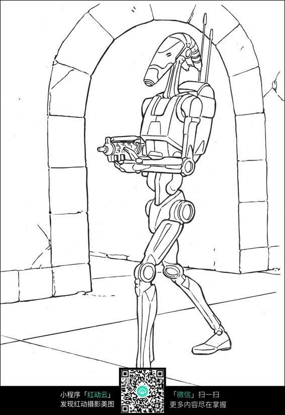 卡通站立的机器人