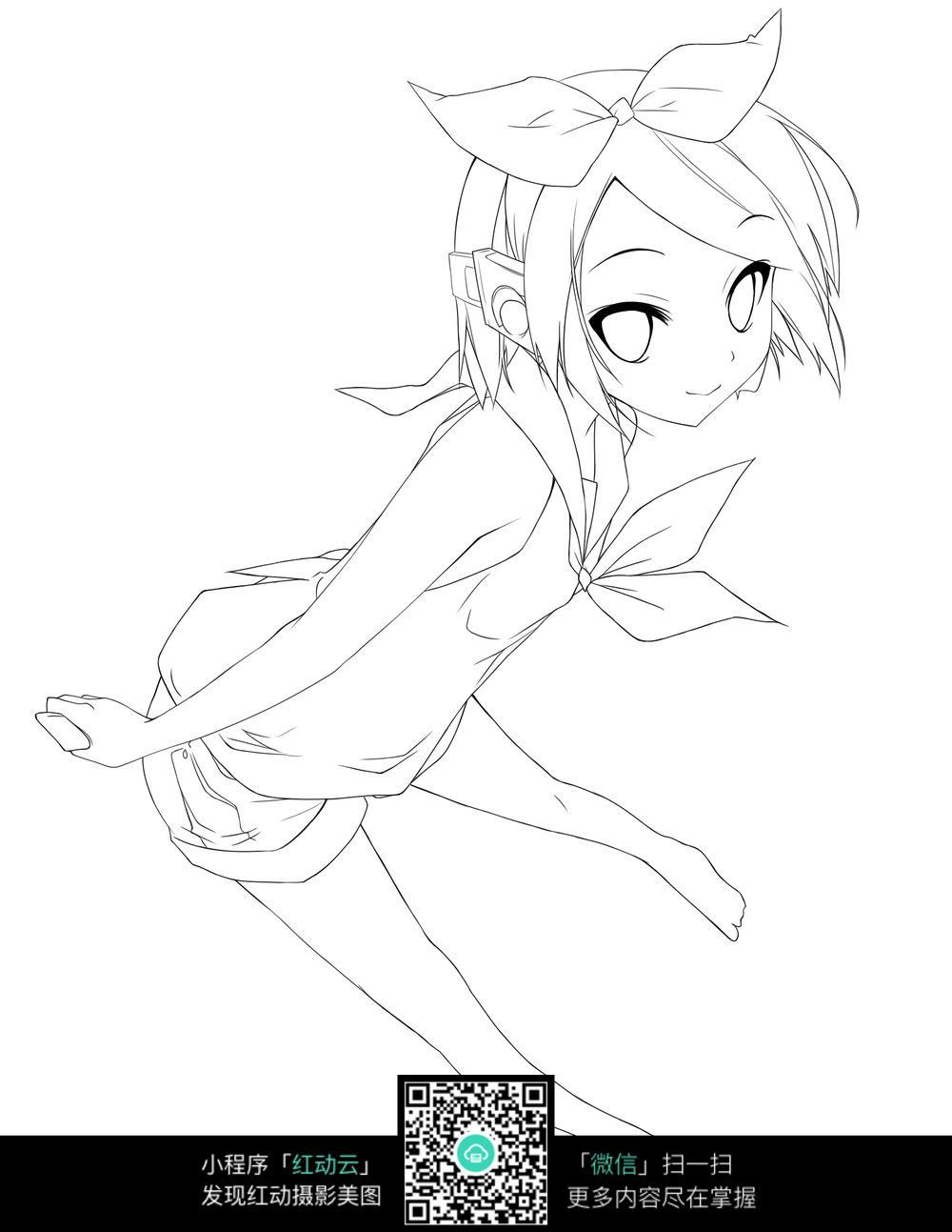 可爱小女孩动漫人物图片