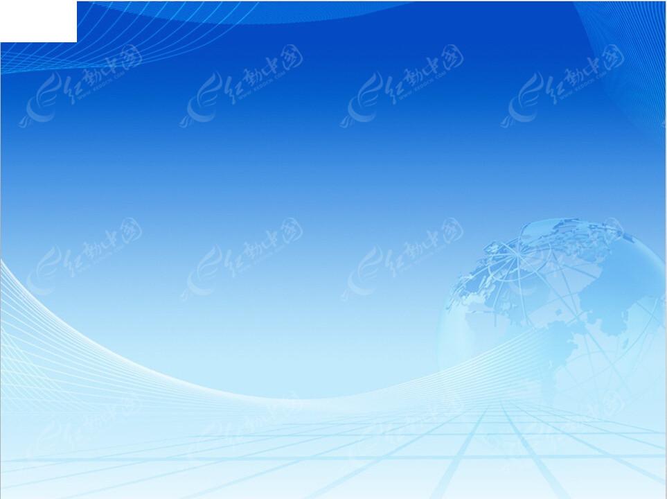 蓝色地球线条ppt模板图片