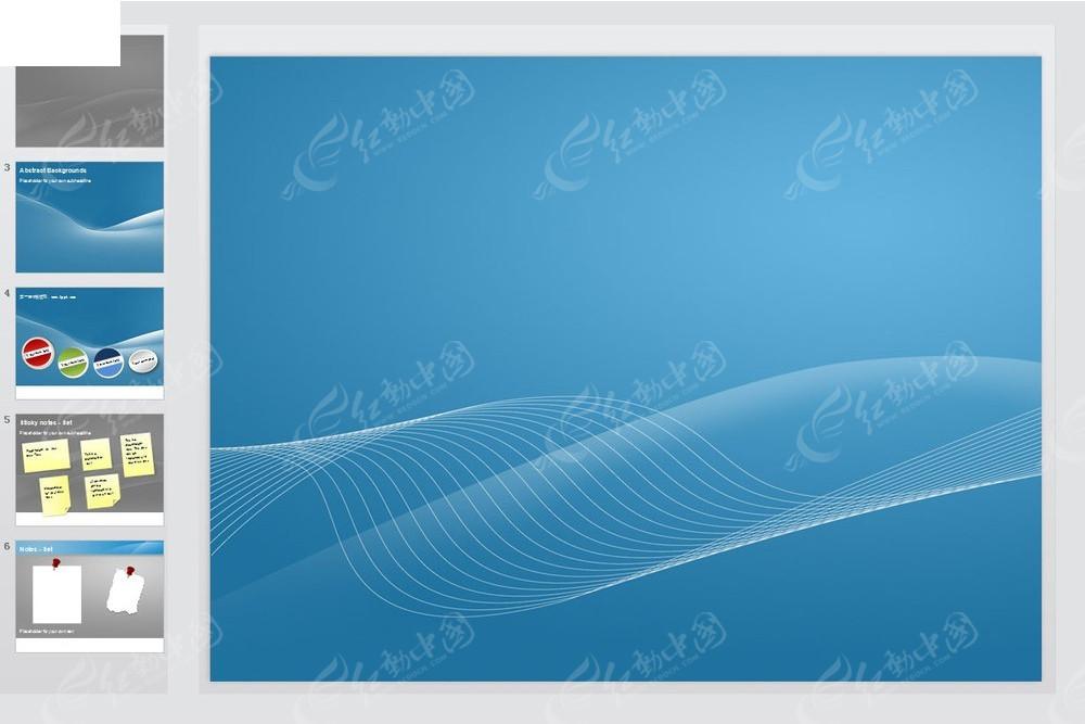 蓝色曲线背景ppt模版素材免费下载 编号3669586 红动网