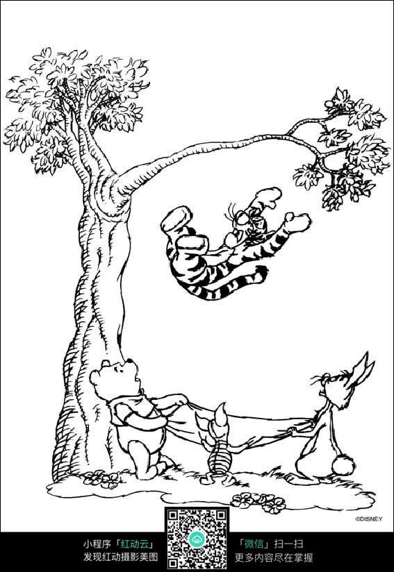 手绘平面树丛