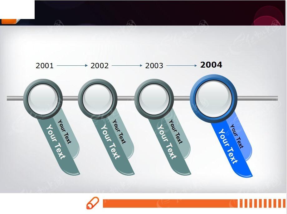 立体按钮ppt流程图素材免费下载_红动网图片
